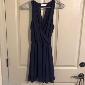 Navy key hold back Lush dress size XS